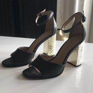 ALDO Chunky Gold Heels